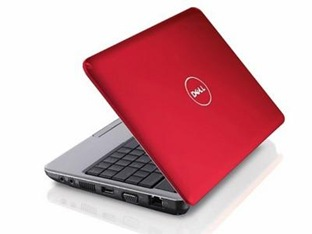 Красный Dell Inspiron Mini 9